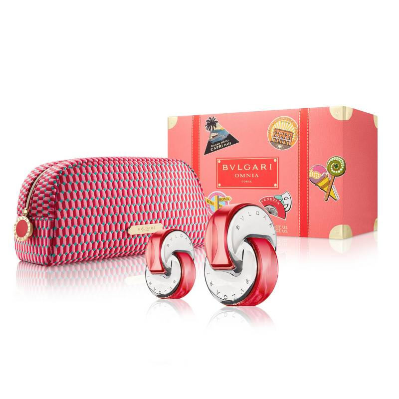 Bvlgari - Set de Perfumería Omnia Coral Mujer EDT 65 ml + EDT 15 ml
