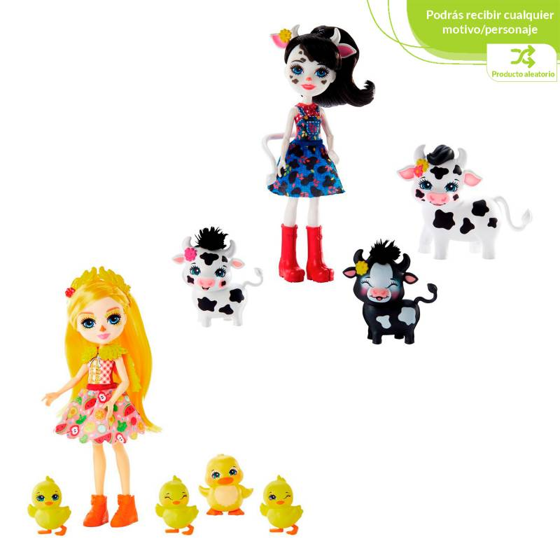 Enchantimals - Muñeca Enchantimals Familia de Animalitos sorpresa