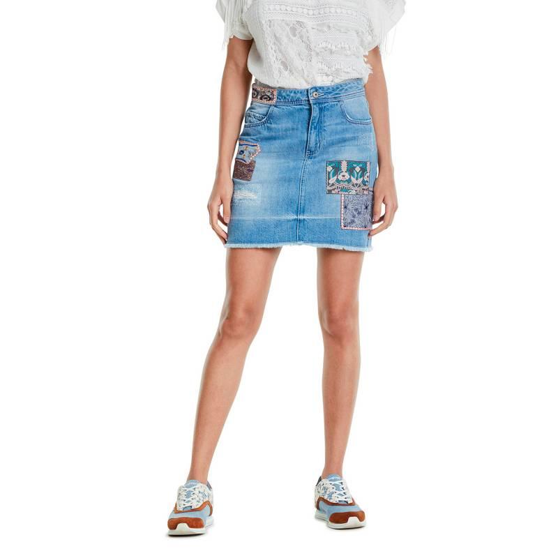 Desigual - Falda Corta Desigual