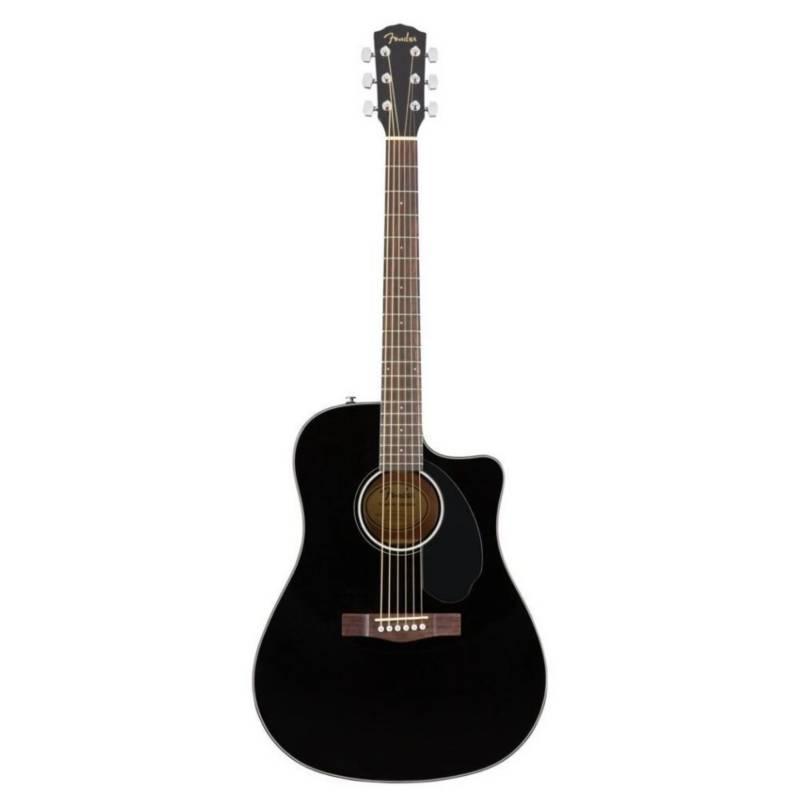 Fender - GUITARRA ACUSTICA CD-60SCCE BK  0970113006 FENDER
