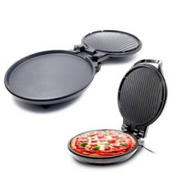 Pizza maker home elements antiadherente 1300w negr