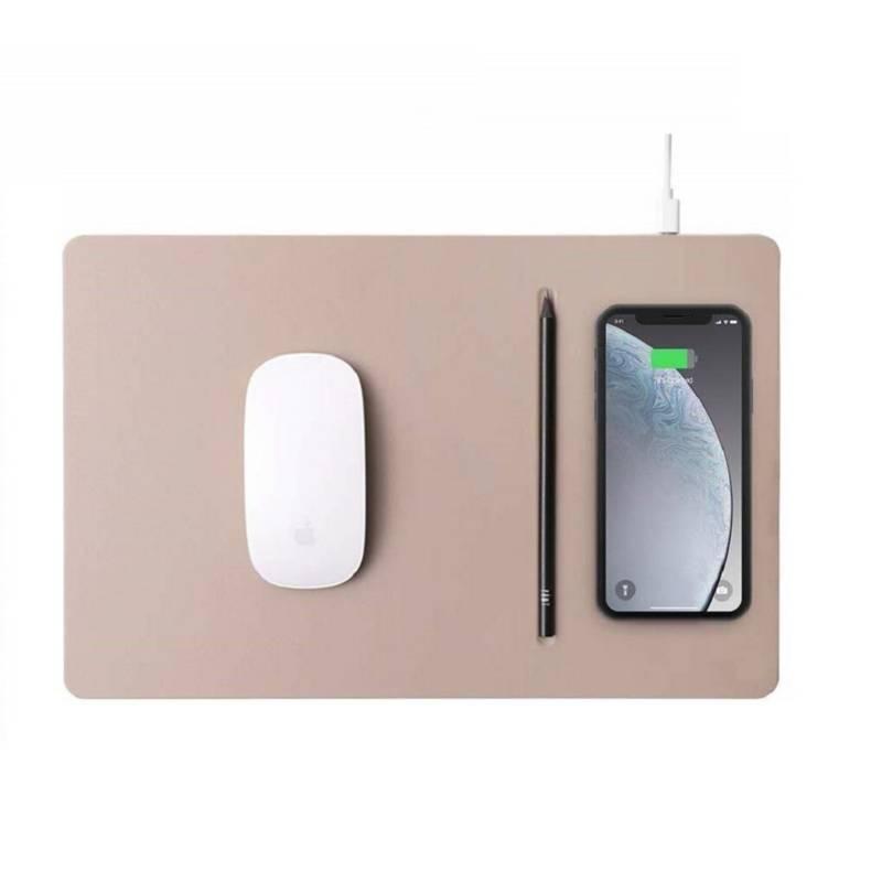 POUT - Mouse pad con cargador inalámbrico - crema oscuro
