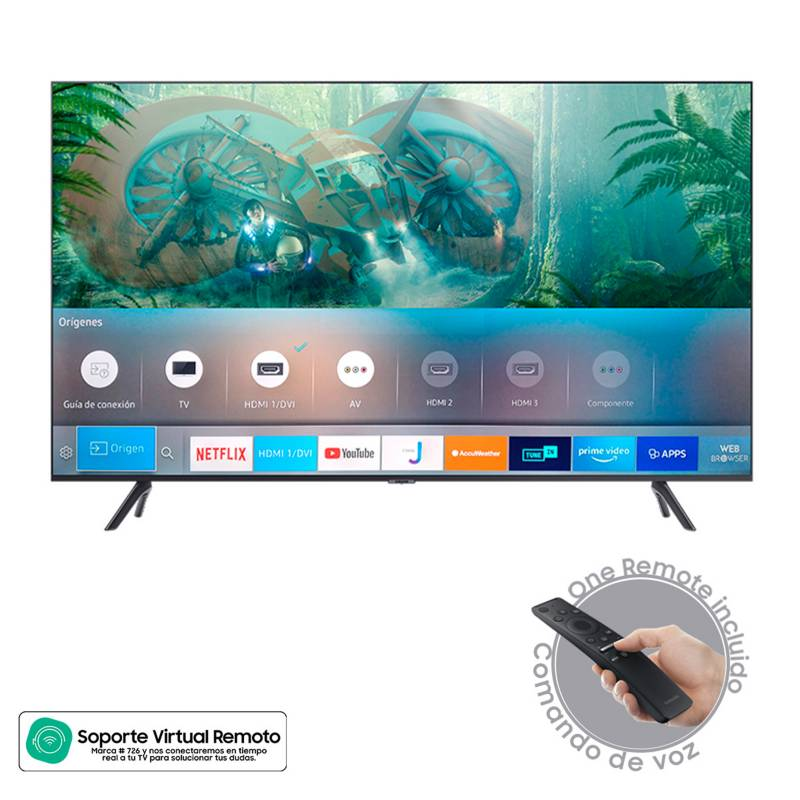 Samsung - Televisor Samsung 55 pulgadas LED 4K Ultra HD Smart TV