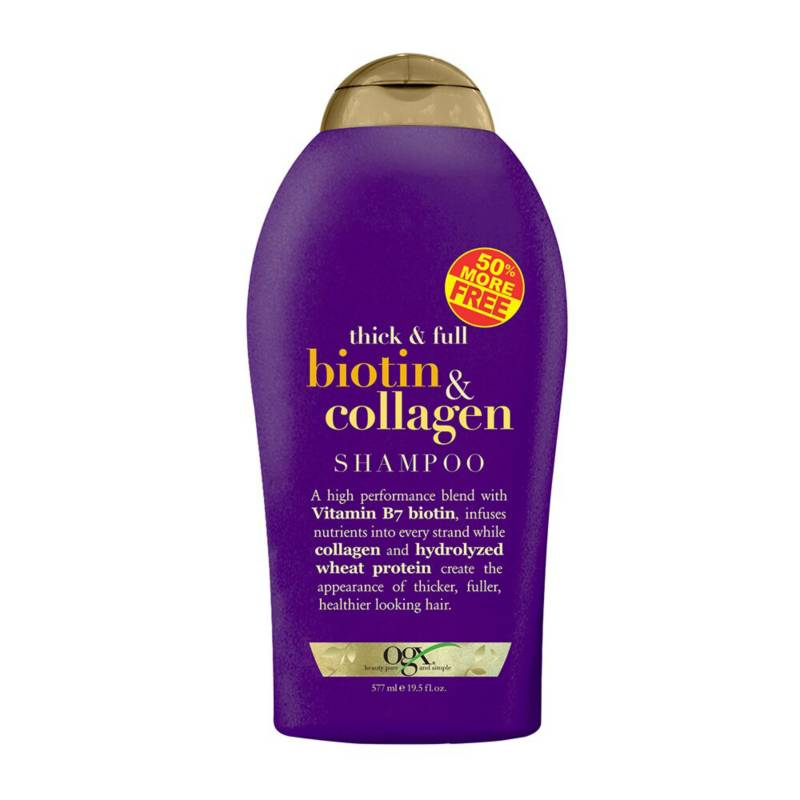 ORGANIX OGX - Shampoo - ogx bio & collagen 50% free 577ml