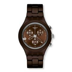 Swatch - Reloj Unisex Swatch Full-Blooded Smoky Brown SVCC4000AG