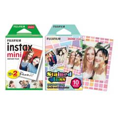 Fujifilm - Kit papel Mini x 20 blanco + Papel Mini x 10 diseño