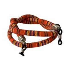 Marfil - Cordón cuelga gafas marfil ikal naranja
