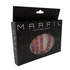 Marfil - Cordón cuelga gafas marfil caspian rojo