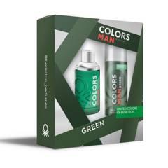 Benetton - Set Perfume Benetton Colors Man Green Hombre 100 ml EDT + Desodorante 150 ml