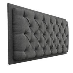 MUEBLES ONLINE - Cabecero de colgar dreamer lino gris 160 cms