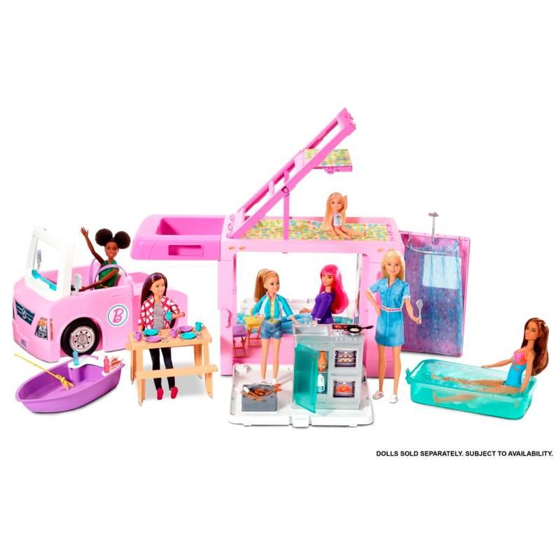 Barbie - Barbie Cámper de Barbie 3 en 1