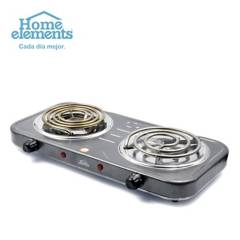 Home Elements - Estufa 2p electrica gris jaspeado