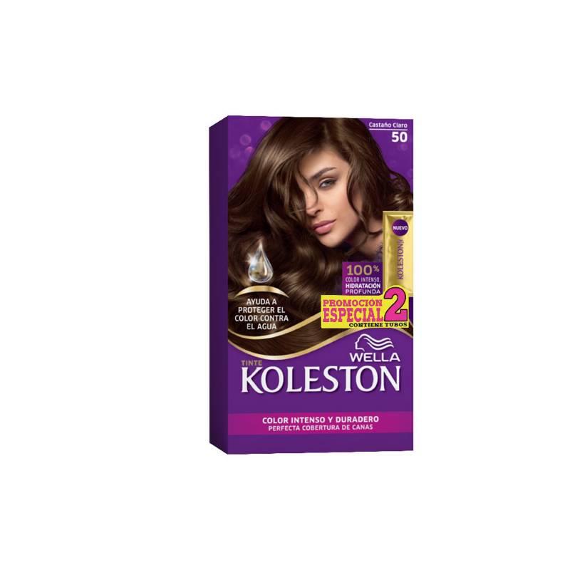 Wella Consumo - Kit tinte doble tubo koleston castaño claro