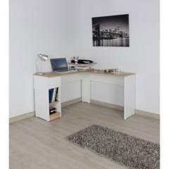 Maderkit - Escritorio en l color duna-blanco  m01326el-dubl