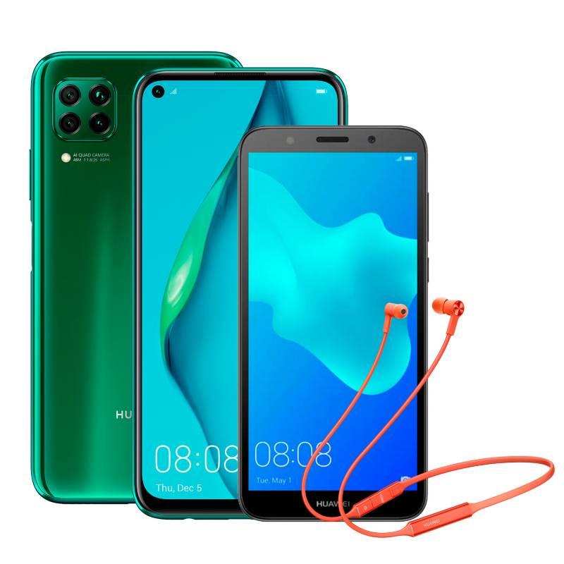 Huawei - Celular Huawei P40 Lite 128GB + Y5 2018 + Freelace