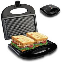Home Elements - Sanduchera grill asador negra