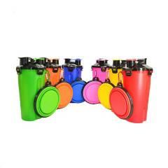 Buy4U - 2en1 Comedero Bebedero Portátil +2 Bowls Plegables