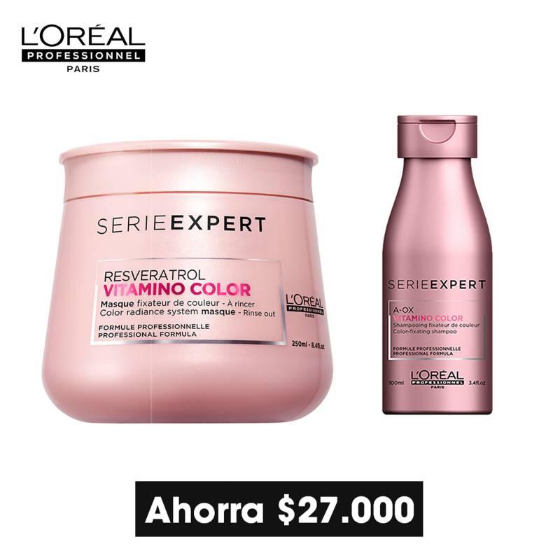 Loreal Serie Expert - L'Oréal Professionnel Paris - Serie Expert - Vitamino Color - Mascarilla Cabello Coloreado 250ml