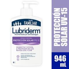 Lubriderm - Crema Hidratante Corporal Lubriderm UV-15 Protección Solar x 946 ml