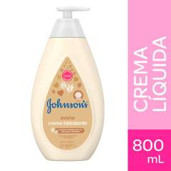 Johnsons Baby - Crema Hidratante Corporal Líquida Johnson´s baby avena 800 ml