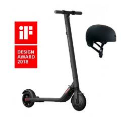 Ninebot Segway - Patineta scooter eléctrica ninebot es2+ casco+mant