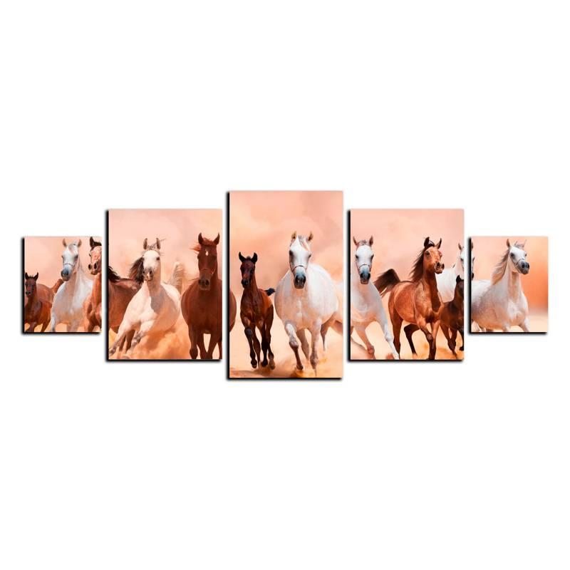 Art Industry - Cuadro Decorativo Caballos 130 x 50 cm