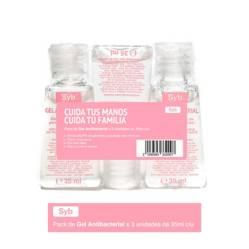 Sybilla - Pack Gel Antibacterial con Aloe Vera x 3
