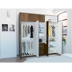 Rta Muebles - Closet Bigaf Ccb 4011 Caramelo 204,0 x 200,0 x 50,3 Rta Muebles
