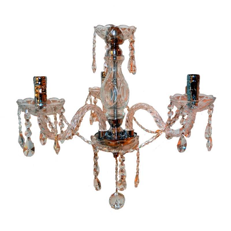 Lienxo - Lámpara de Cristal Transparente 3 Luces