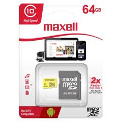 Maxell - Memoria Micro SD 64GB Clase 10