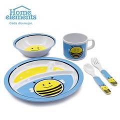 Home Elements - Vajilla infantil 5pzas melamina