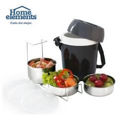 Home Elements - Termo comida 3 recipientes acero unos