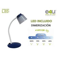 E4U - Lampara Led  Escritorio Azul5 Vatios Dimerizable