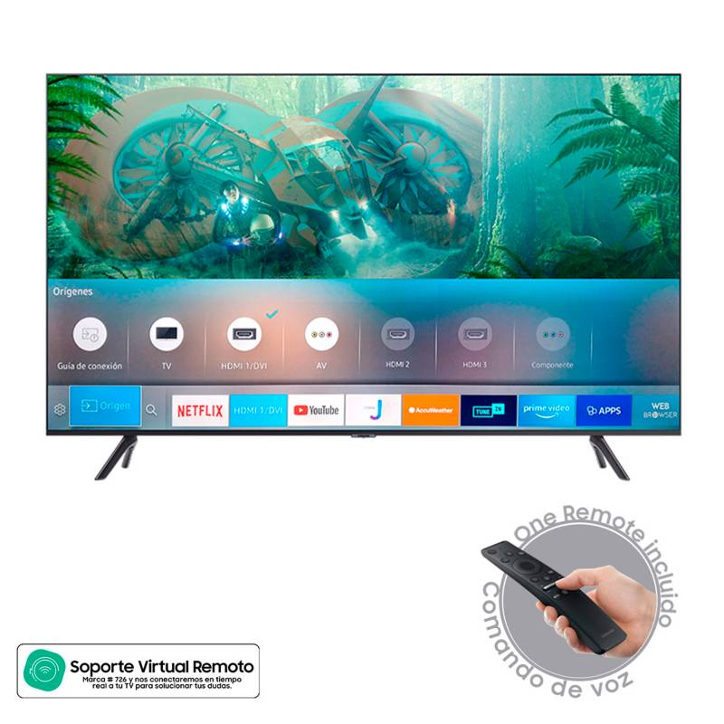 Samsung - Televisor Samsung 43 pulgadas LED 4K Ultra HD Smart TV