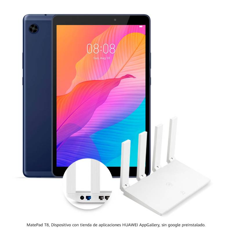 Huawei - Tablet Huawei Matepad T8 8 pulgadas 32GB + Router inalámbrico con HMS