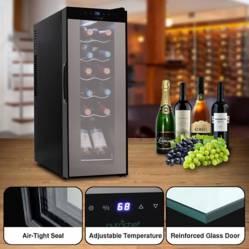 Nutrichef - Refrigerador de vino compacto