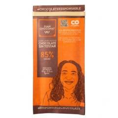 Juanchoconat - Barra Chocolate 85% Cacao Sin Tostar