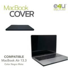 "E4U - Cover Para Macbook Air 13.3""  Negro Mate"