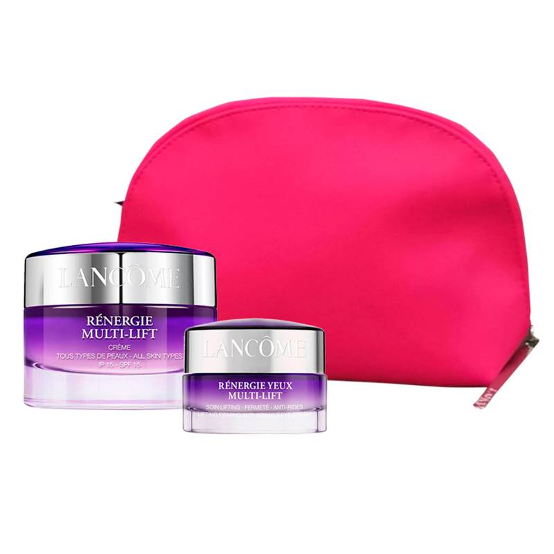 Lancome - Set Lancome Crema Renergie 50ml + Crema Renergie Multi Lift 15ml + Cosmetiquera Rosa