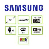 Samsung - Televisor Samsung 43 pulgadas UN43T5300AKX