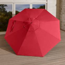 Sombrilla Redonda Roja
