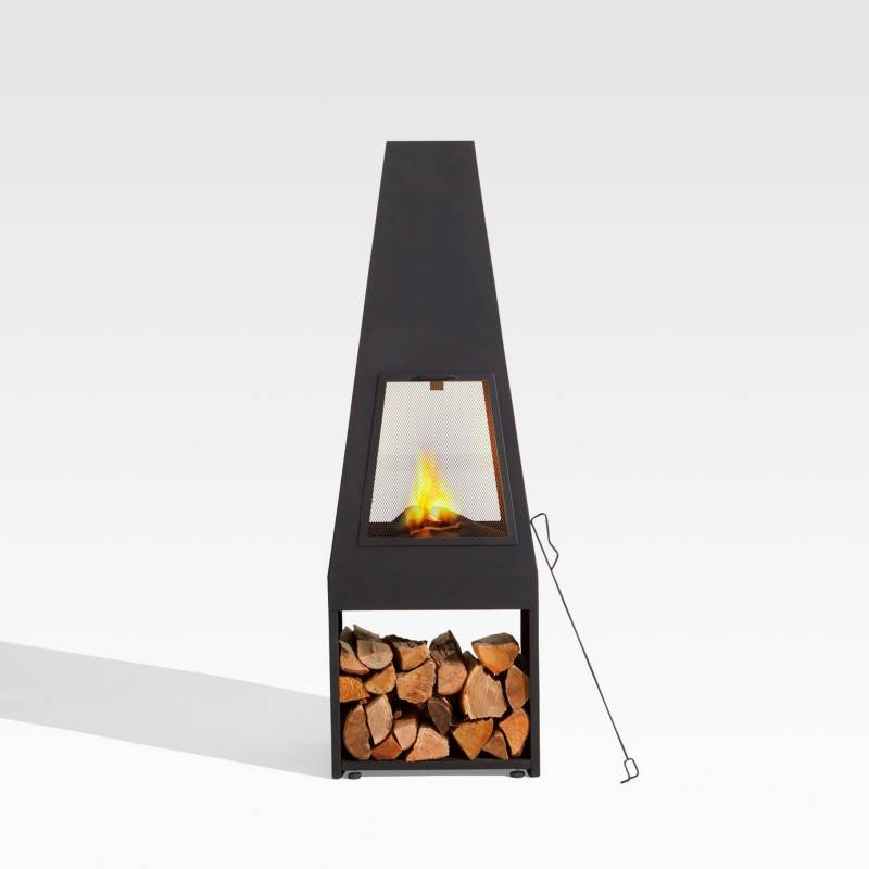 Crate & Barrel - Chimenea Arroyo 45 x 152 cm