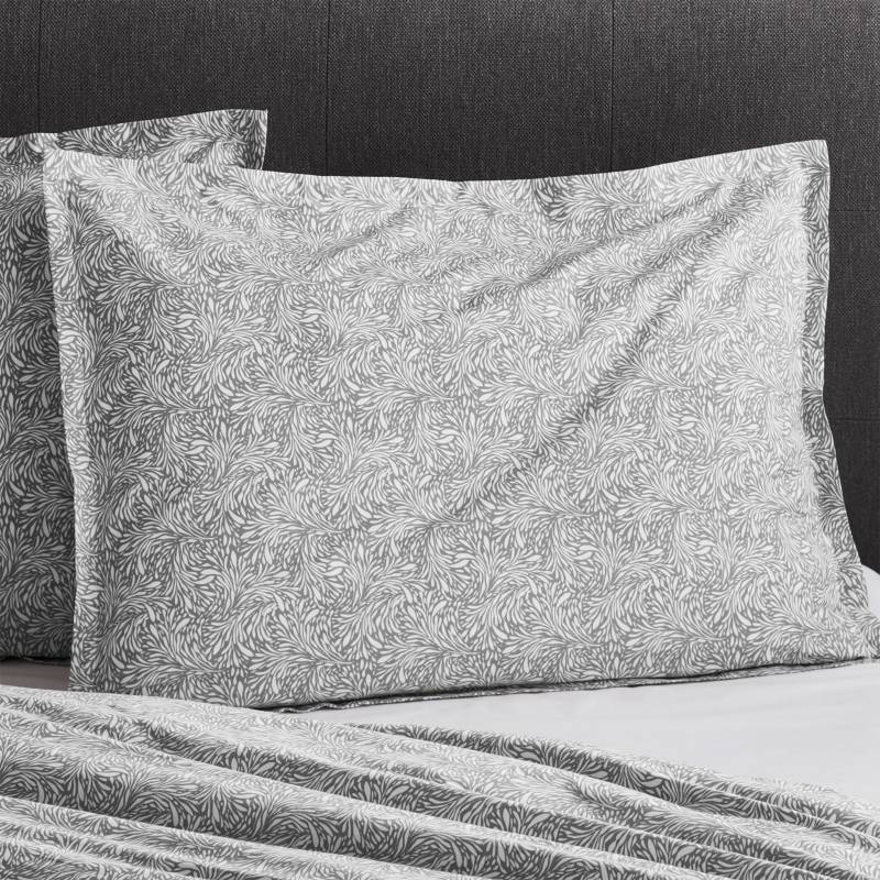 Crate & Barrel - Funda de Almohada Gris Ellio