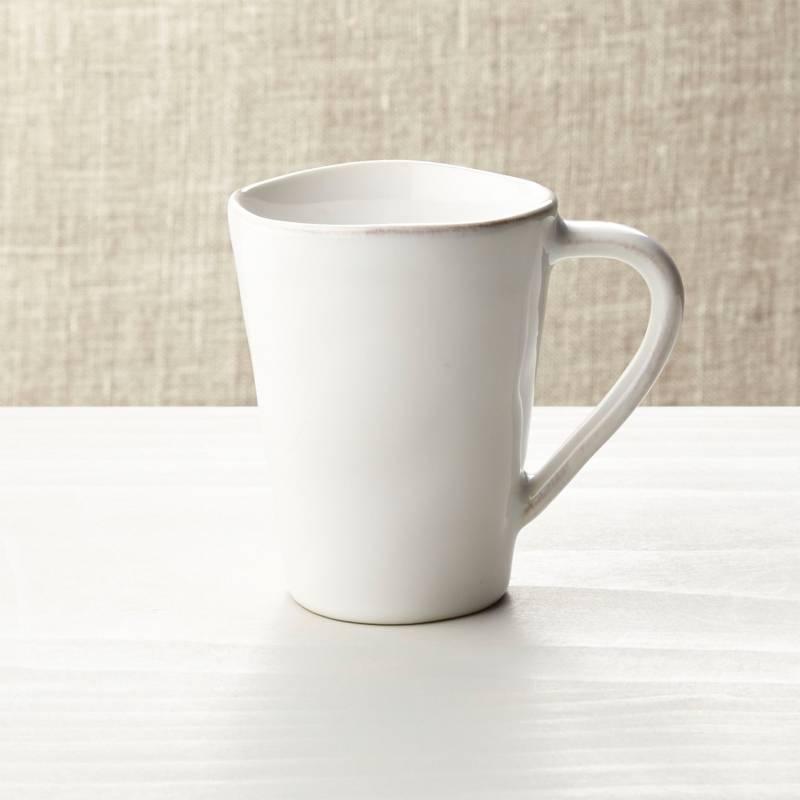 Crate & Barrel - Mug Marin Blanco 9 cm