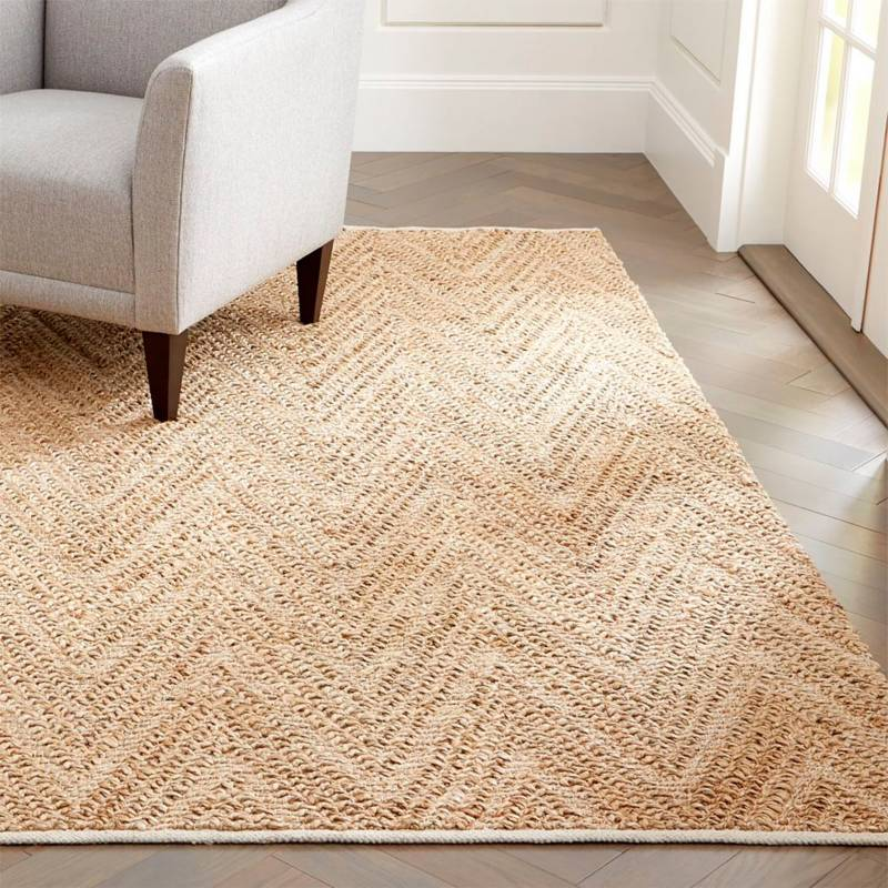 Crate & Barrel - Alfombra Toler Natural 244x305 cm.