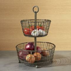 Crate & Barrel - Frutero Bendt 2 Niveles