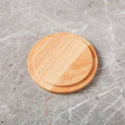Crate & Barrel - Portavasos / Tapa de Madera para Mug Merge