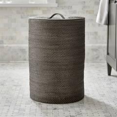 Crate & Barrel - Canasto Sedona Gris 43 x 60 cm