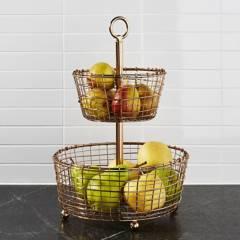 Crate & Barrel - Frutero Bendt 2 Niveles 28 x 43 cm