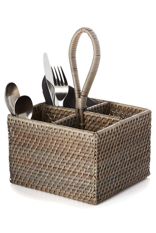 Crate & Barrel - Organizador para Cubiertos Gris